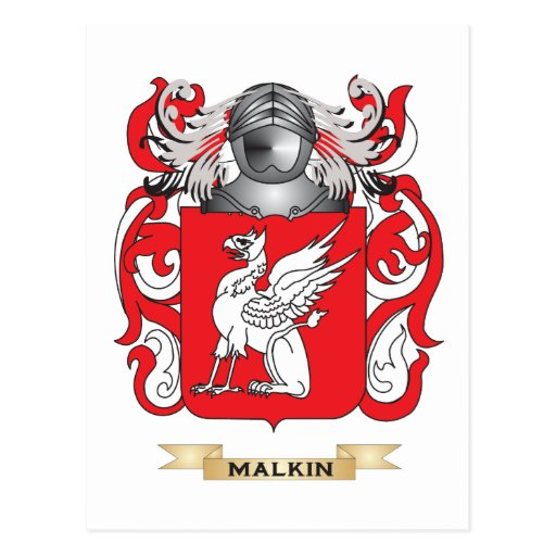 Malkin Coat of Arms (Family Crest) Post Card