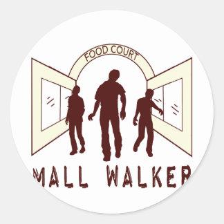 Mall Walker Classic Round Sticker