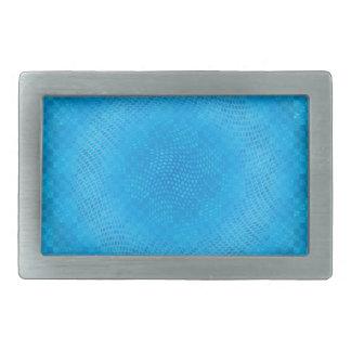 malla azul abstracta a cuadros hebillas de cinturón rectangulares