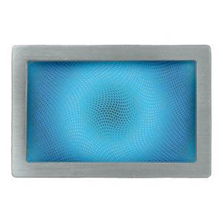 malla azul abstracta hebilla cinturón rectangular