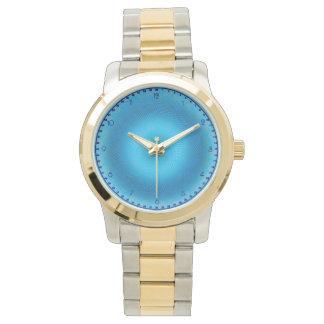 malla azul abstracta relojes