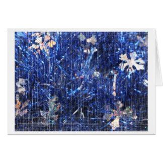 Malla azul con la capa del rasguño tarjeta pequeña