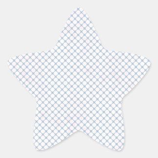 Malla azul y blanca calcomanías forma de estrella