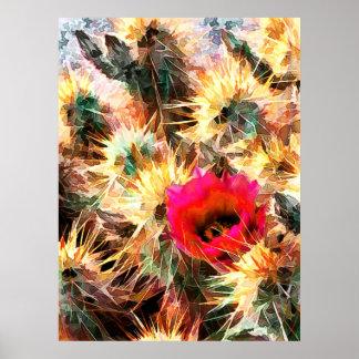 Malla de las agujas del cactus posters