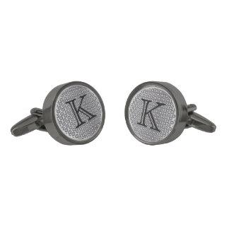 Malla de plata del monograma gemelos plomizos