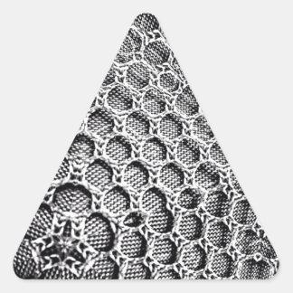 Malla de plata pegatina triangular