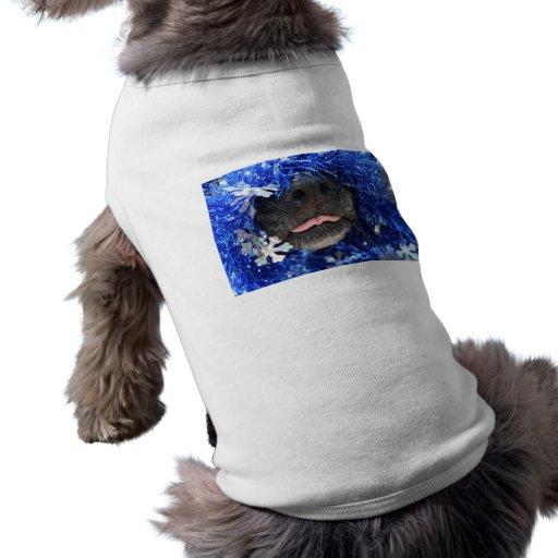 Malla del azul de la lengua de la nariz de perro p camisetas de mascota