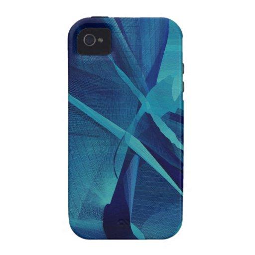 Malla linear azul vibe iPhone 4 carcasa