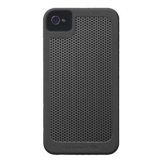 Malla metálica cepillada con anillo iPhone 4 Case-Mate cobertura