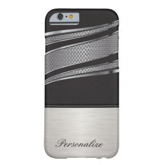 Malla negra y de plata elegante del cromo funda barely there iPhone 6