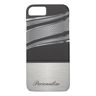 Malla negra y de plata elegante del cromo funda iPhone 7