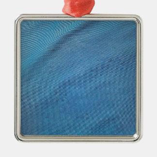 Malla plástica azul adorno navideño cuadrado de metal