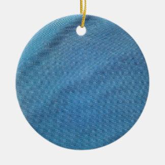 Malla plástica azul adorno navideño redondo de cerámica