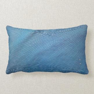 Malla plástica azul cojines