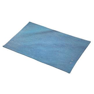 Malla plástica azul manteles individuales