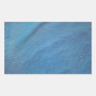 Malla plástica azul pegatina rectangular