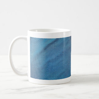 Malla plástica azul taza básica blanca