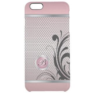 Malla rosada de la plata del Tourmaline del Funda Clear Para iPhone 6 Plus