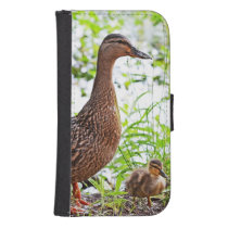 Mallard and Ducklings by Shirley Taylor Phone Wallet