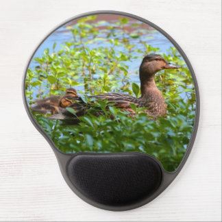 Mallard and Ducklings-Swimming by Shirley Taylor Gel Mouse Pad