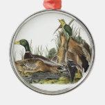 Mallard by Audubon Metal Ornament