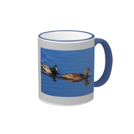 Mallard Couple Ringer Coffee Mug