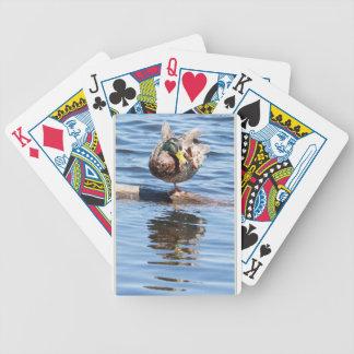 Mallard Doing Yoga Bicycle Poker Cards
