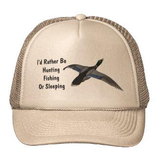 Mallard Drake Duck Wildlife Bird Hats