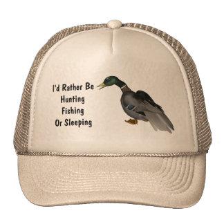 Mallard Drake Duck Wildlife Bird Mesh Hat