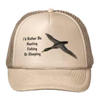 Mallard Drake Duck Wildlife Bird Mesh Hats
