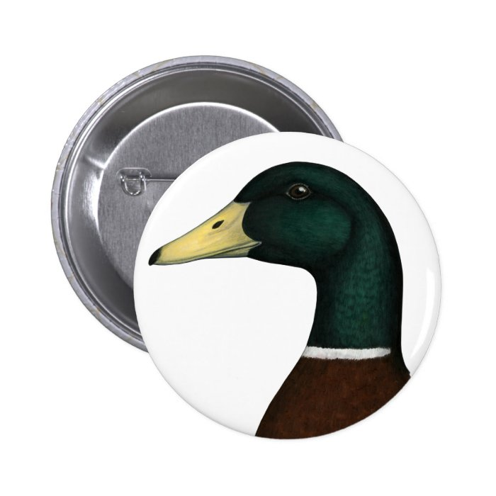 Mallard Drake Head Pinback Button
