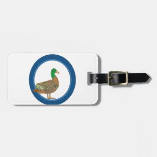 Mallard Duck Bag Tag