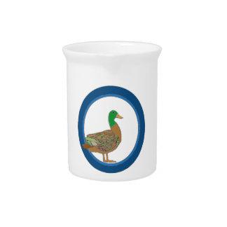 Mallard Duck Beverage Pitcher