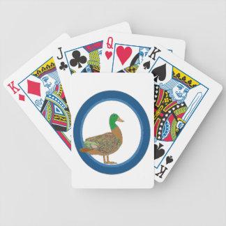 Mallard Duck Bicycle Playing Cards