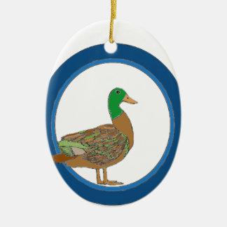 Mallard Duck Ceramic Ornament