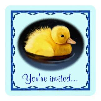 Mallard Duck Chick Birthday Party Card