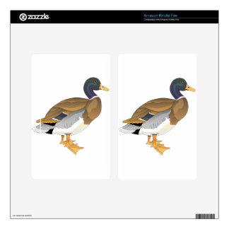 Mallard Duck (Drake) Kindle Fire Decals