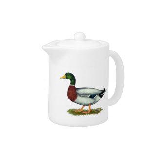 Mallard Duck Drake Teapot