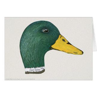 Mallard Duck (Drake), Watercolor Greeting Card