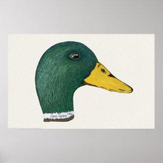 Mallard Duck (Drake), Watercolor Print