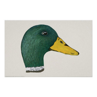 Mallard Duck Drake Watercolor Print