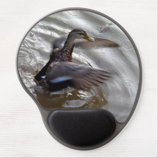 Mallard Duck Flapping Wings Gel Mouse Pad