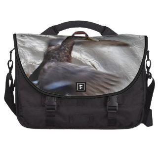 Mallard Duck Flapping Wings Laptop Commuter Bag
