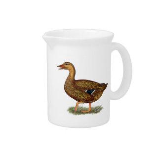 Mallard Duck Hen Drink Pitcher