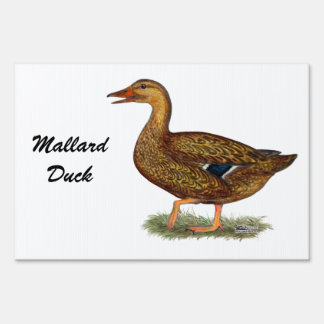 Mallard Duck Hen Lawn Sign