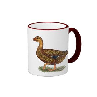 Mallard Duck Hen Ringer Mug