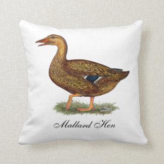 Mallard Duck Hen Throw Pillow