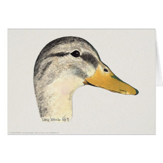 Mallard Duck (Hen), Watercolor Card