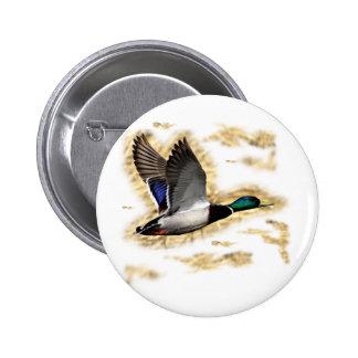 Mallard Duck Hunting Button