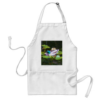 Mallard duck in a pond adult apron